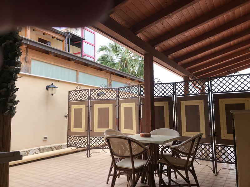 veranda esterna esclusiva