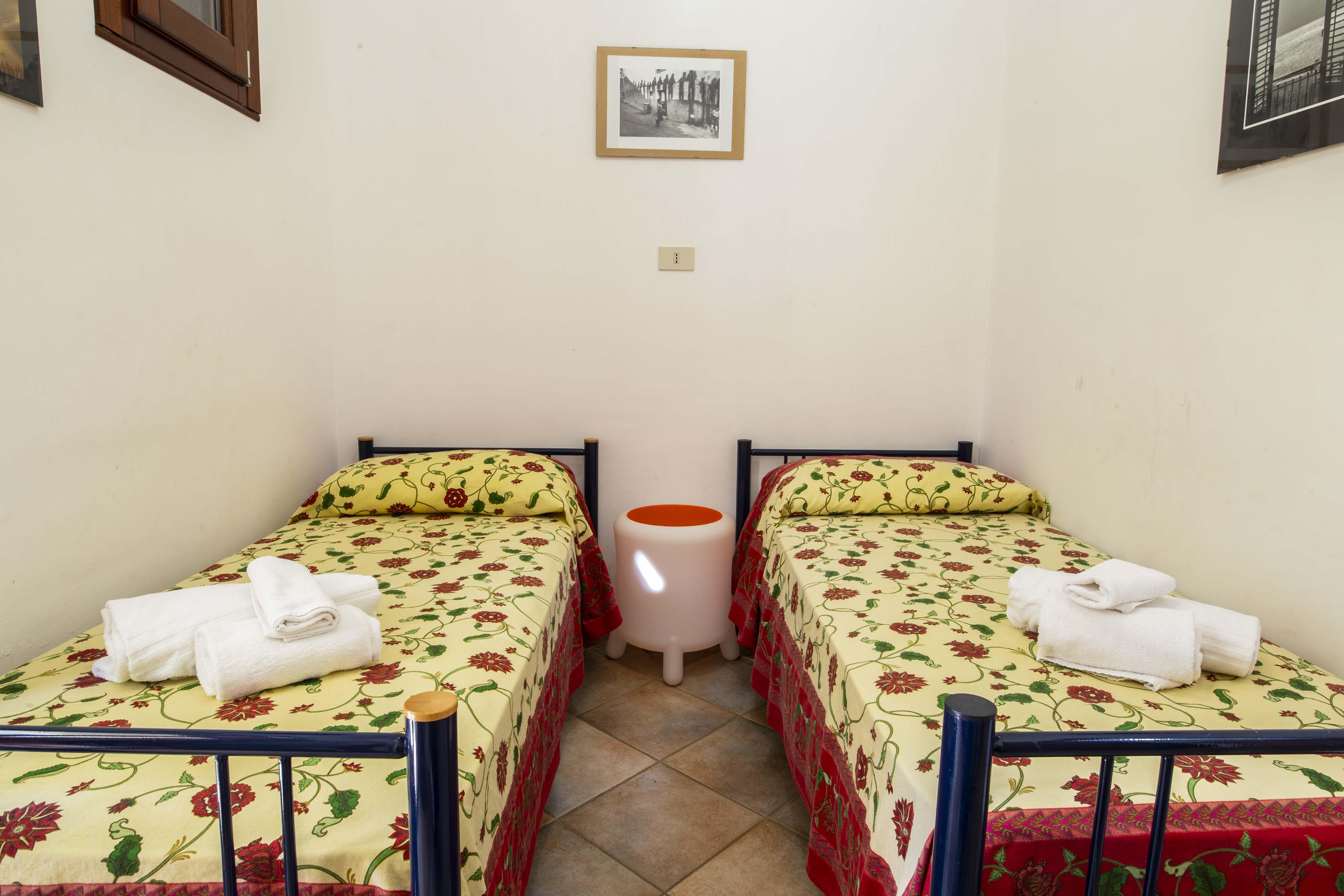 Camera da letto doppia con letti singoli